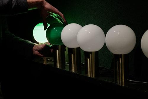 Lamps by Jordi Canudas Studio seen at Il Giardinetto, Barcelona - Giardinetto's Green