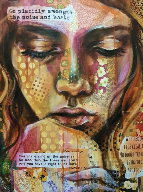 Lady's Face Painting   Paintings by Ally Jade