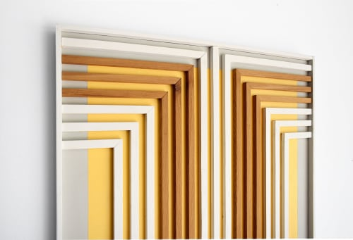 Wall Hangings by Ethos Woodworks seen at Private Residence -  Melbourne Beach, FL, Melbourne Beach - Warm Expressions - Wood Wall Art