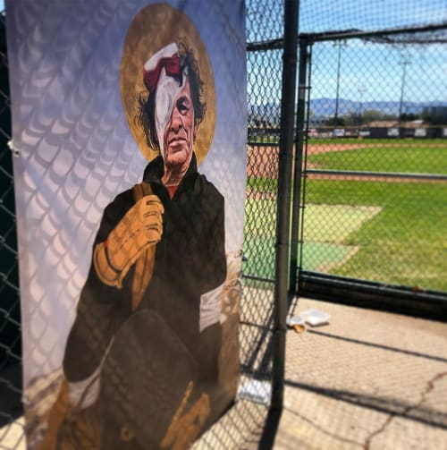 Paintings by Jaxon Northon seen at Tighe Park, Reno - George Spinner