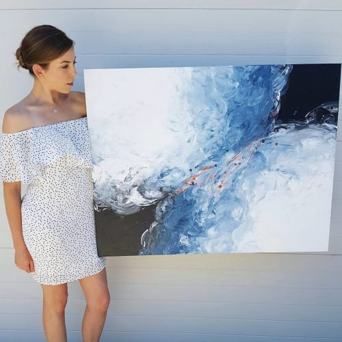 Swimming In Waves | Paintings by Jessica Swan