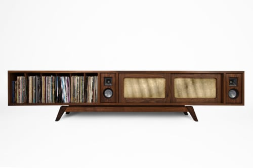 Furniture by Michael Maximo seen at Michael Maximo Furniture & Design Studio, Austin - Speaker Console II