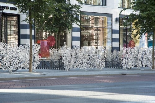 Public Sculptures by Frank Tjepkema seen at Rokin, Amsterdam - Bicycloud