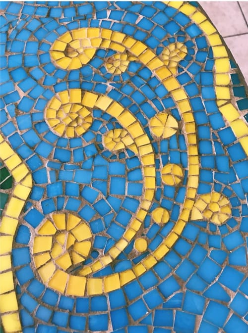 Tables by Ercole seen at Sardinia - Glass Mosaic Table