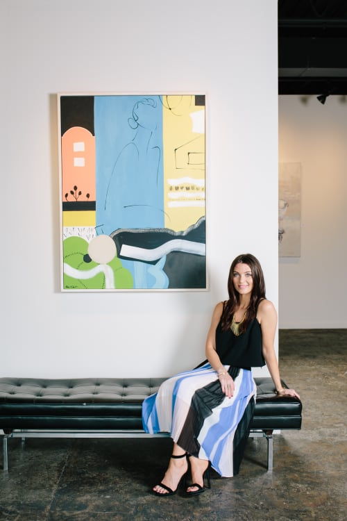 Paintings by Paige Kalena Follmann seen at Private Residence, Atlanta - Painting in Gallery Space