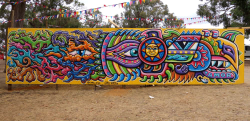 Street Murals by Chris Dyer seen at Melbourne, Australia, Melbourne - Rainbow Serpent
