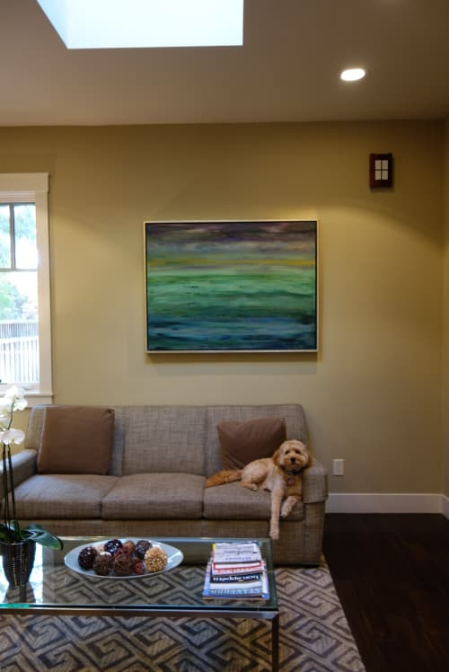 Paintings by Ariel Gold seen at Private Residence, Menlo Park - Acrylic on Canvas