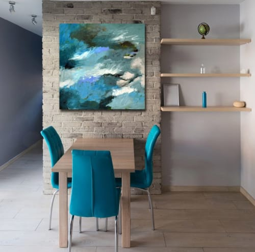 """Paintings by Abby Creek Studios - Paintings by Linda O'Neill seen at Private Residence, Boulder - """"FLOW"""" acrylic on canvas"""