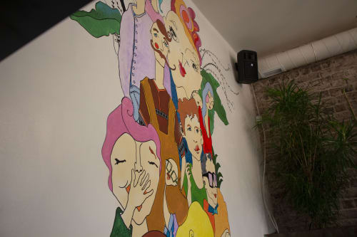 Murals by HappyNES Productions seen at Nişantaşı - Friends that Elevate