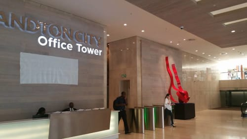 Sculptures by Mark L Swart seen at Sandton City South Africa, Sandton - Sandton Office Towers Sculpture
