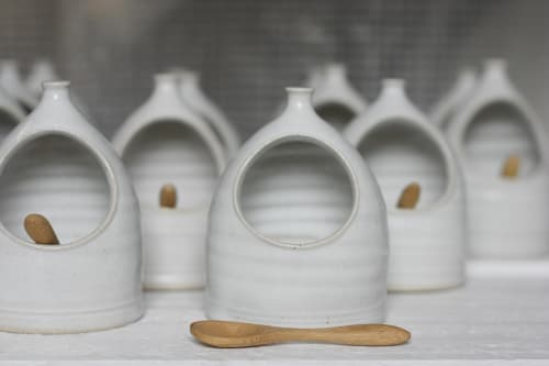 Tableware by Natalie Bonney Ceramics seen at Private Residence, Penryn - Salt Pig