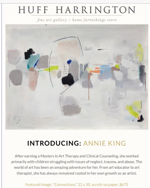 Paintings by Annie King seen at Huff Harrington Fine Art, Atlanta - Happening