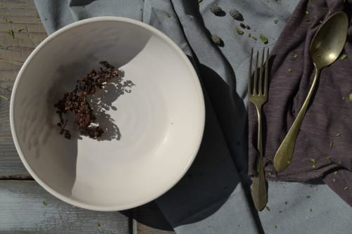 Ceramic Plates by Homatino ceramics seen at Katikies Mykonos, Agios Ioannis Diakoftis - Dragon Bowl