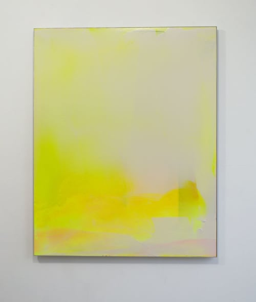 "Paintings by Matt McClune seen at Private Residence, London - ""Yellow (Zürich) #1"""