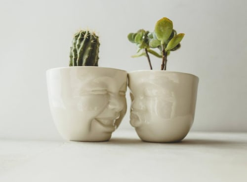 Vases & Vessels by SIND STUDIO seen at Private Residence, New York - CACTI DUO porcelain planters set
