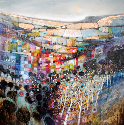 Paintings by BLYTHE SCOTT seen at Private Residence, Edmonton - 'Dreaming in the Dales'