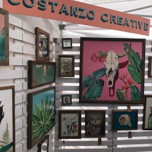 Paintings by Costanzo Creative seen at Santa Cruz, Santa Cruz - Southwestern/Botanical Style Artwork