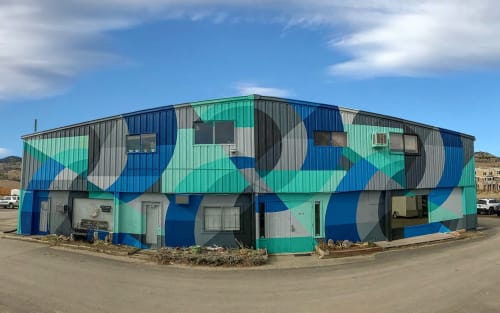 Street Murals by Jason T. Graves seen at Boulder, Boulder - NoBo Art District – Welcome Mural – Boulder, Colorado