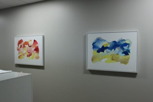 Paintings by Megan Hinds seen at Champaign, Champaign - Paintings for Carle Hospital Administration Building