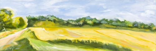 Yellow Whispers | Paintings by Shirley Bavonese | Private Residence, Ann Arbor in Ann Arbor