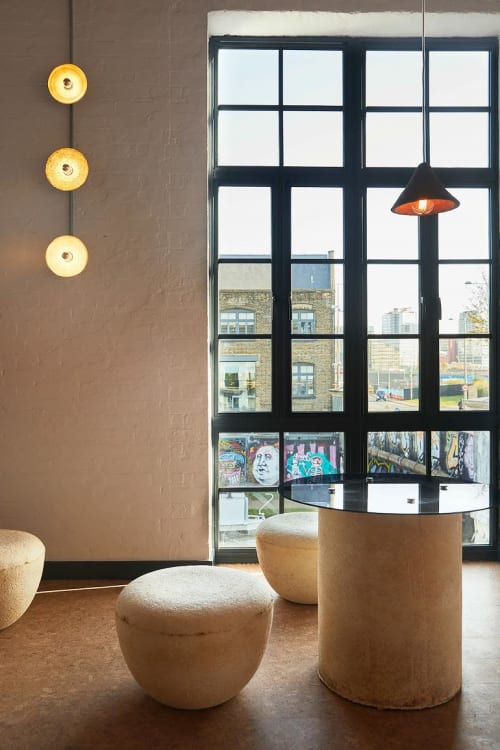 Pendants by Tŷ Syml seen at CRATE Brewery & Pizzeria, London - Silo lighting