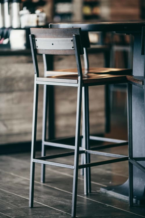 Chairs by Crow Works seen at Starbucks, New Albany - Transit Stool