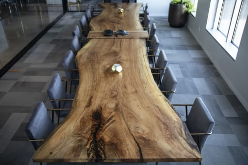 Tables by Eagle's Nest Artistry seen at Ampersand Agency, Austin - Ampersand Pecan Conference Table
