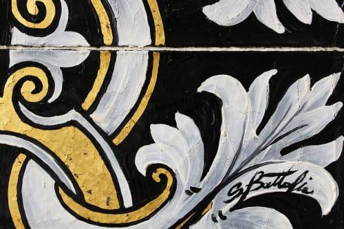 Paintings by Salvatore Battaglia seen at Mayfair, London - Terra Bruciata