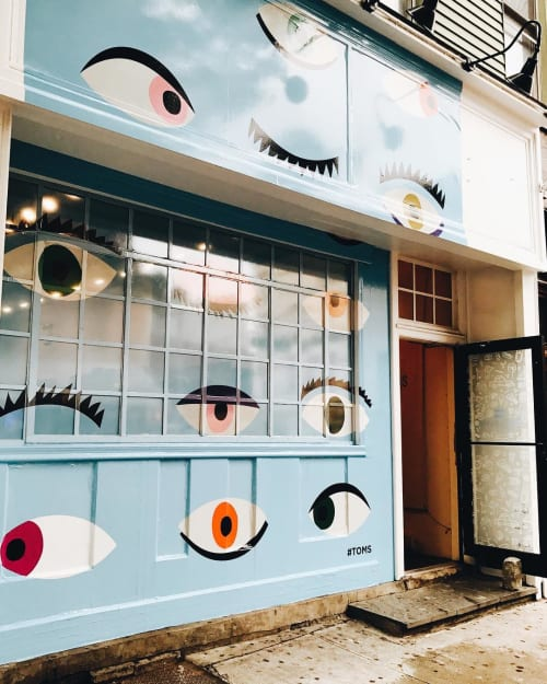 Murals by LMNOP Creative seen at 184 Bedford Ave, Brooklyn - All Eyes on Deck