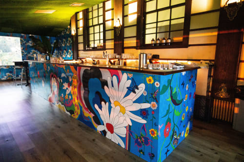 Murals by Welcome to the Brightside seen at Yamashiro | Hollywood, Los Angeles - Sourtooth Pop-Up