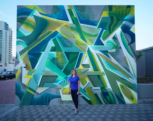 Murals by Maddy Butcher seen at Business Bay, Dubai - Persephone Abstract Street Art