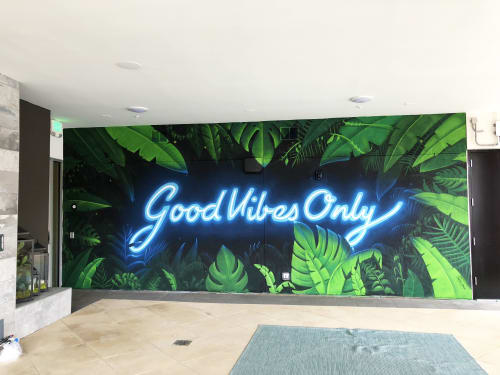 Street Murals by Nathan Brown seen at Nashville, Nashville - Good Vibes Only