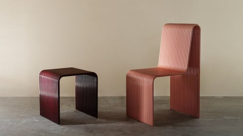 Benches & Ottomans by LAUN seen at Private Residence, Los Angeles - Ribbon Stool