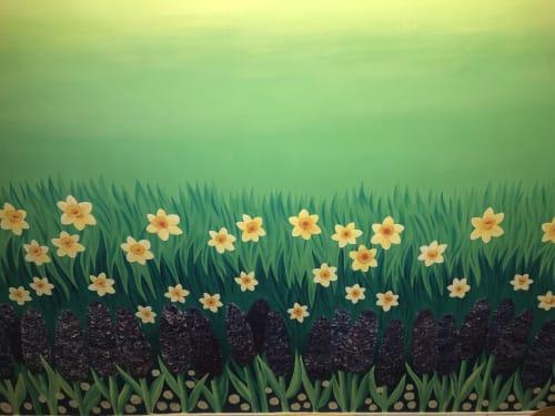 British Tea Garden   Murals by Nicki Deux   Gallery Hyde Park in London