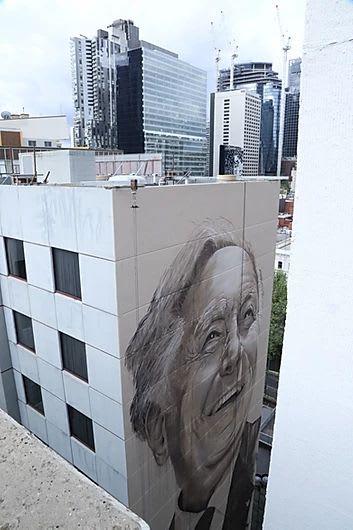 Murals by Cam Scale seen at Pullman Melbourne Albert Park, Albert Park - Les Erdi OAM