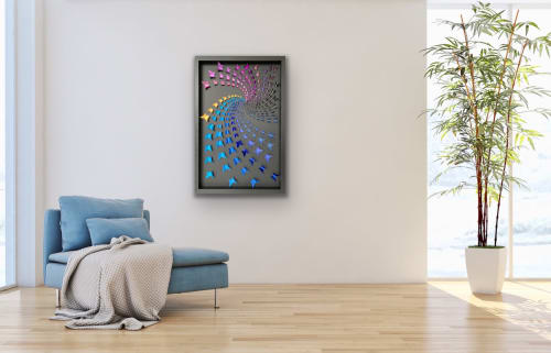 Art & Wall Decor by Lorna Doyan seen at Private Residence, Houston - Rainbow Swirl - butterfly art