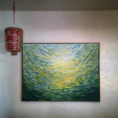 Paintings by Pacific Wonderland Inc seen at Private Residence, Ventura - Abstract Paint