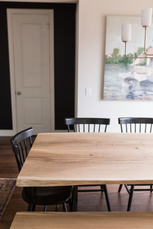 Tables by Stockton Heritage seen at Private Residence, Medina - Oak Wishbone Dining Table