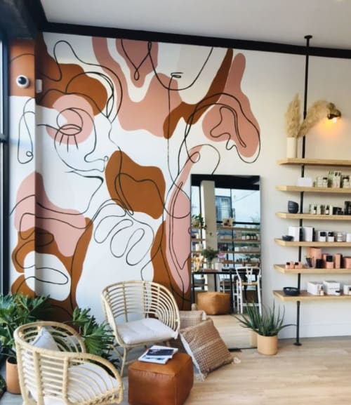 Murals by Dora Cuenca seen at Freedom Apothecary, Philadelphia - Freedom Apothecary Indoor Mural