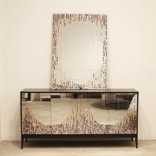 Furniture by Ercole seen at Ercole Home, New York - 4-Door Buffet and Mirror