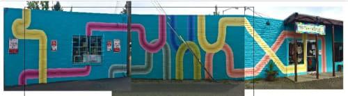 Street Murals by Victoria Wagner seen at Sebastopol, Sebastopol - Curves