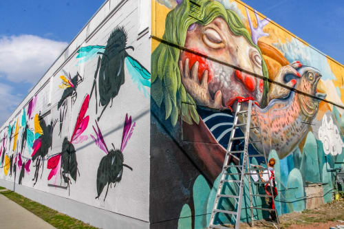 Street Murals by Katie Green seen at Chintz & Company, Calgary - Beltline Urban Mural Project