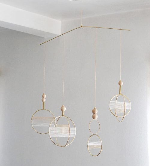 Wall Hangings by Attalie Dexter Home + Accessories seen at Private Residence, Los Angeles - Custom Orbital Mobile