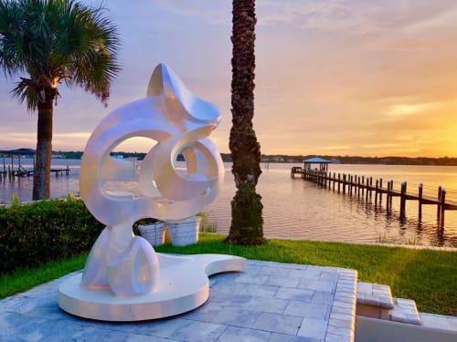 Sculptures by Alexander Krivosheiw seen at Private Residence, Daytona Beach - Rever Rising