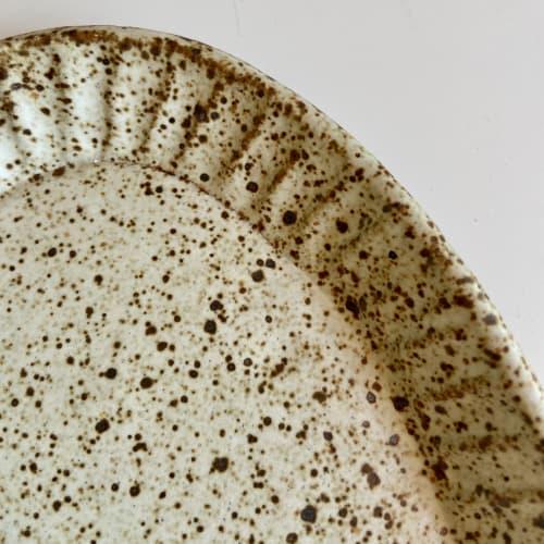 Tableware by cursive m ceramics seen at Creator's Studio, Oakland - oval platter