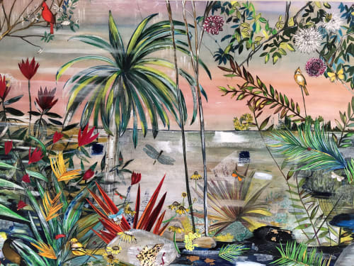 Art & Wall Decor by Victrola Design / Victoria Corbett Art seen at Private Residence, Austin - Tropical Garden