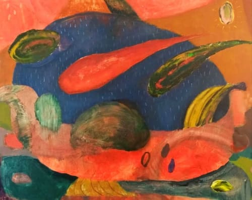 Paintings by Jack Tierney seen at Private Residence - Fruit Bowl with Mangoes