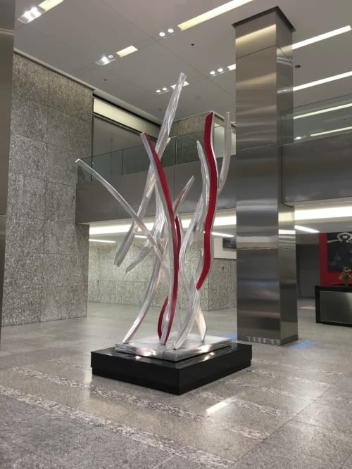 Sculptures by Michael Young Sculpture seen at 55 E Monroe St, Chicago - Pictograph