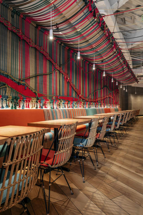Macrame Wall Hanging by Kandilandia seen at SuViche – Sushi and Ceviche, Doral - Macramé