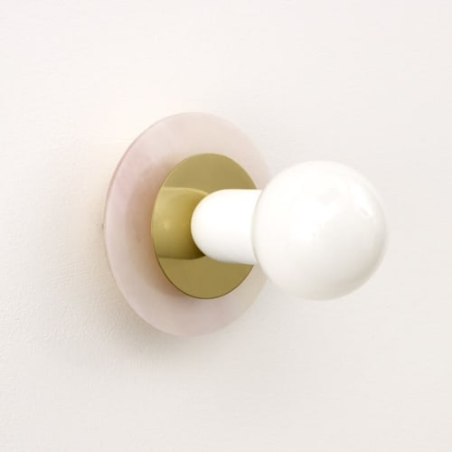 "Sconces by Spark & Bell seen at Private Residence, Brighton - ""Aureole"" Colour Series Wall Sconce"